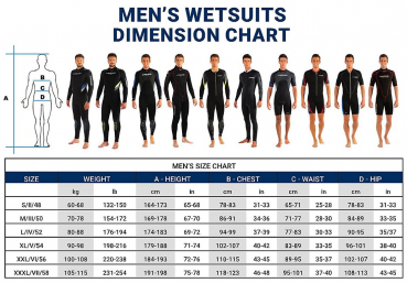 cressi sub wetsuits size chart