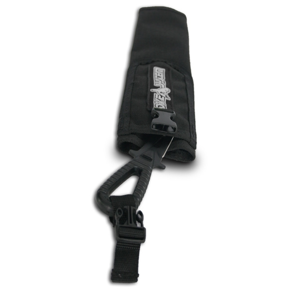 DiveSystem Inflator cover with dive knife