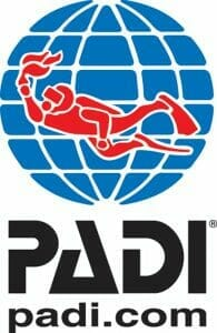 Bild mit Logo der Tauchorganisation PADI ~ Tauchsport Dive Connection