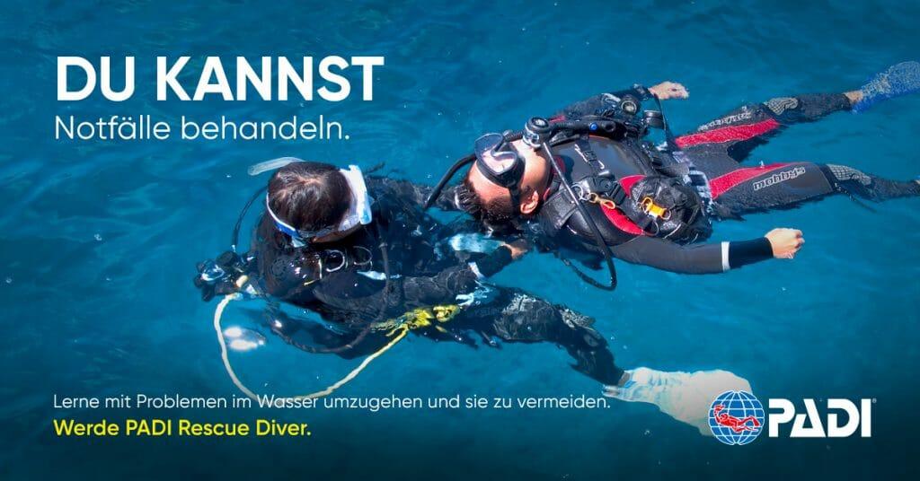 Rescue Diver Kurs bei Tauchsport Dive Connection
