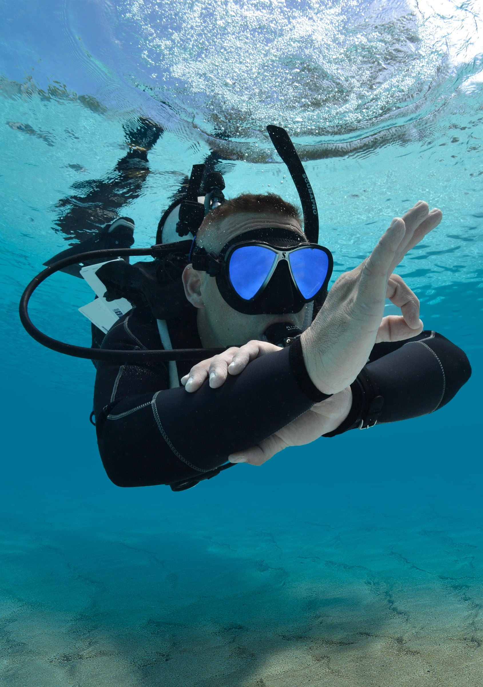 Solodiver bei Tauchsport Dive Connection
